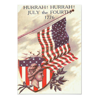Liberty Shield米国旗の女性 カード