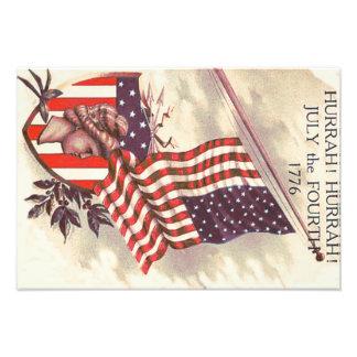 Liberty Shield米国旗の女性 フォトプリント