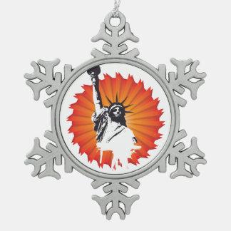 Liberty Snowflake Ornament女性 スノーフレークピューターオーナメント