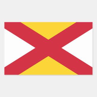 Lichfieldの旗のステッカー 長方形シール