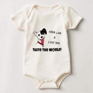 Licky犬の好みのように世界を作って下さい ベビーボディスーツ