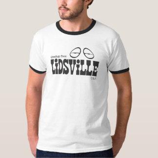 Lidsvilleのロゴの黒 Tシャツ