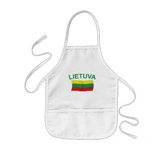 Lietuva (リスアニア)緑Ltrs 子供用エプロン