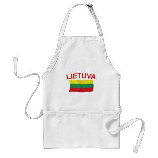 Lietuva (リスアニア)赤いLtrs スタンダードエプロン