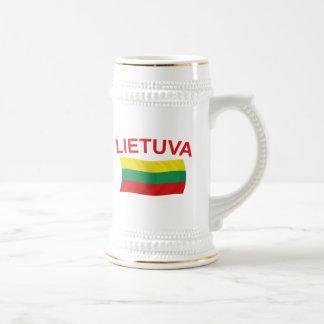 Lietuva (リスアニア)赤いLtrs ビールジョッキ