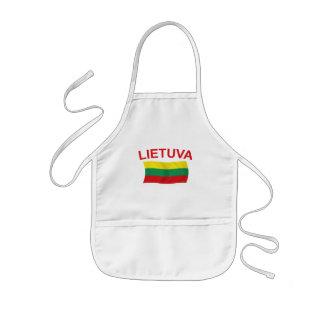 Lietuva (リスアニア)赤いLtrs 子供用エプロン