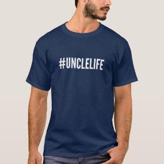Life叔父さんのTシャツ- Hashtagの#UNCLELIFE Tシャツ