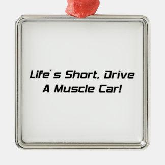 Lifesの不足分ドライブGear4gearheadsによる筋肉車 メタルオーナメント