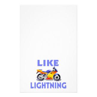 Lightiningの通りのバイクのように 便箋