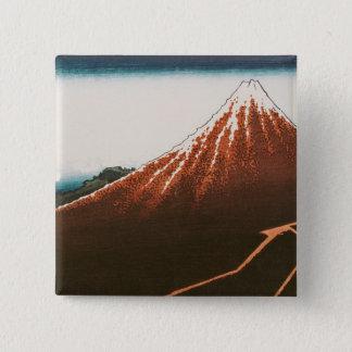 Lightningの上の富士 缶バッジ