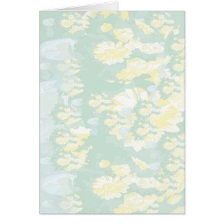 Lightshadeの黄色緑の花柄のテンプレート カード