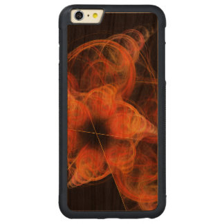 Lightworksの抽象美術 CarvedチェリーiPhone 6 Plusバンパーケース