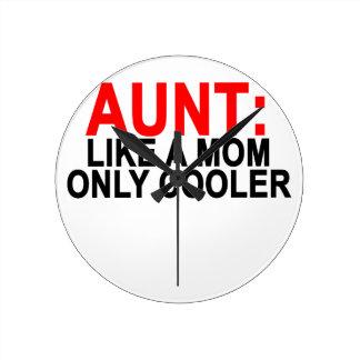 Like叔母さんお母さんのよりクールな女性のT-Shirts.pngだけ ラウンド壁時計