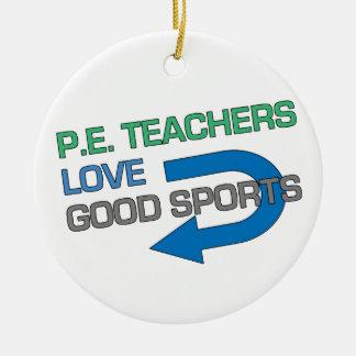 Like P.E. Teachersのよいスポーツ 陶器製丸型オーナメント