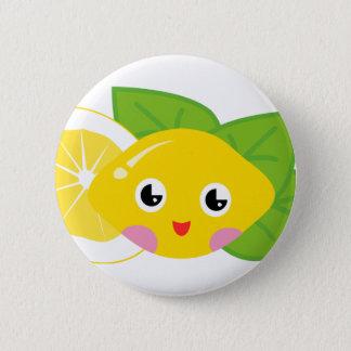 Lilかわいいレモン 5.7cm 丸型バッジ