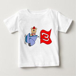 Lilのパイロットくまの第3誕生日 ベビーTシャツ
