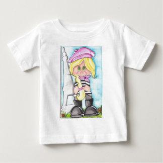 Lilのフランス人の女の子 ベビーTシャツ