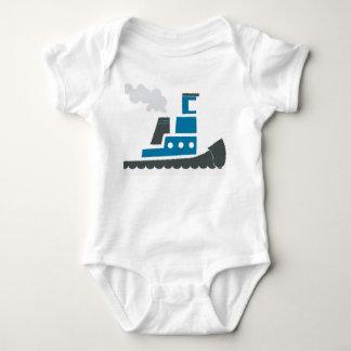Lilのワンピース青いタグボートのベビー ベビーボディスーツ