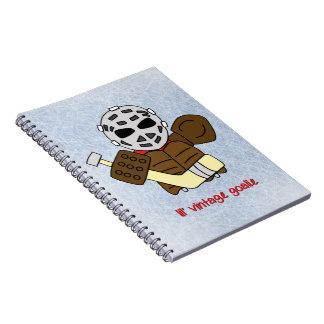 Lilのヴィンテージのホッケーのゴールキーパー ノートブック