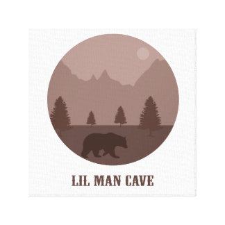 Lilの人の洞窟の男の子部屋の子供部屋の娯楽室くまの芸術 キャンバスプリント