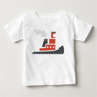 Lilの赤いタグボートのベビーのティー ベビーTシャツ