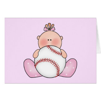 Lilの野球の女の赤ちゃん カード
