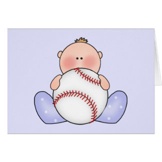 Lilの野球の男の赤ちゃん カード