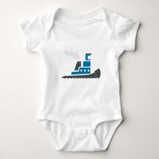 Lilの青のタグボート ベビーボディスーツ