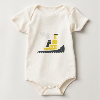Lilの黄色いタグボート ベビーボディスーツ