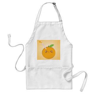 Lilは」かわいいベビーのオレンジのエプロンを吹き出します スタンダードエプロン