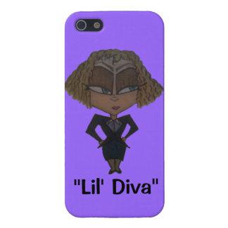 """Lil花型女性歌手""のIPhone 5sケースの紫色 iPhone 5 ケース"