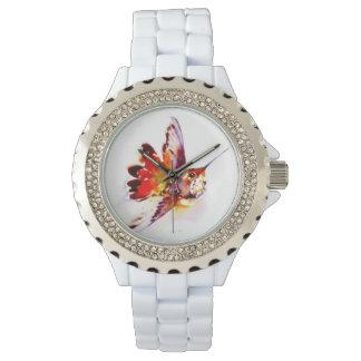 """Lil赤い""のハチドリのプリント 腕時計"