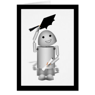 Lil Robox9の卒業生-帽子! グリーティングカード