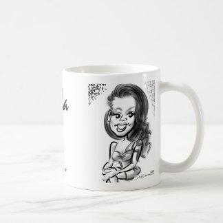 Lilaの風刺漫画のマグ コーヒーマグカップ