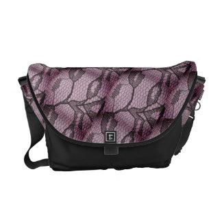 Lilac Black Lace Look Messenger Bag メッセンジャーバッグ