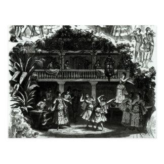 Lilas Pastiaの居酒屋のカルメン ポストカード