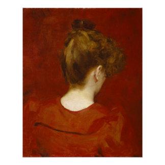 Lilia 1887年の勉強(キャンバスの油) ポスター