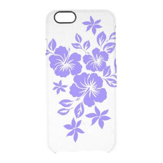 Lilikoiのハイビスカスのハワイ州人の花柄 クリアiPhone 6/6Sケース