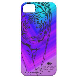 Lilly -トラのステンシルiPhone 5の場合の紫色か青 iPhone SE/5/5s ケース