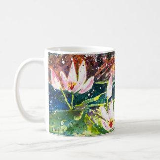 Lily Pond watercolor print Coffee mug コーヒーマグカップ