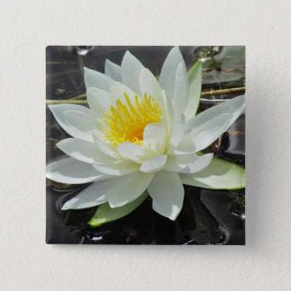 Lilypadの開花ボタン 5.1cm 正方形バッジ