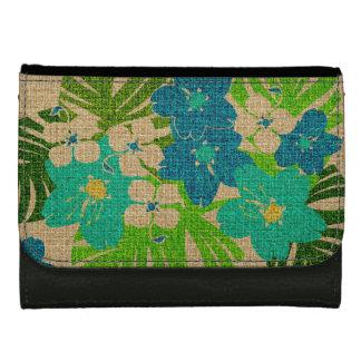 Limahuliの庭のハワイのハイビスカスの財布