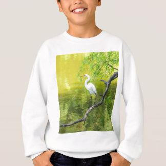 Limb.jpgでとまる素晴らしく白い白鷺 スウェットシャツ