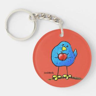 LimbBirdsの円(独身の味方される) Keychain キーホルダー