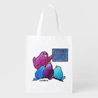 LimbBirdsの再使用可能な買い物袋 エコバッグ