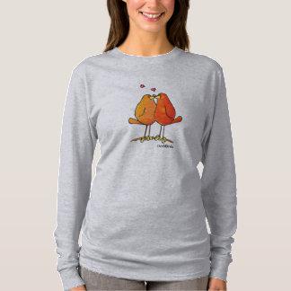 LimbBirdsの女性のHanesのNano長袖のTシャツ Tシャツ