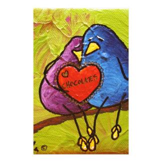 "LimbBirds ""チョコレートバレンタイン"" 便箋"