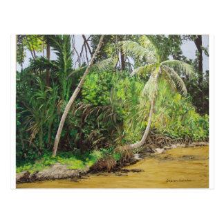 Limonのコスタリカの絵画 ポストカード
