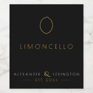 Limoncelloの結婚式のゲストの好意のボトルのラベル  ワインラベル