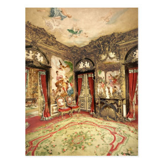 Linderhof宮殿の上部のババリアドイツ ポストカード